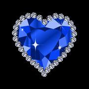 Diamond heart shape Stock Illustration