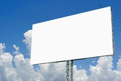 Blank billboard for advertisement on sky background Stock Photos
