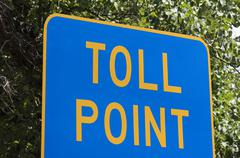 Toll point sign Stock Photos