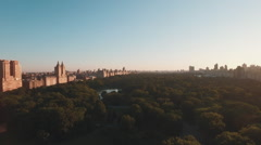 Aerial shot of Central Park, Manhattan, New York, United States Stock Footage