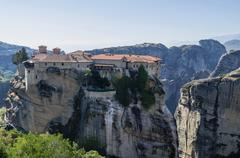 Monastery of Agia Triada in Meteora,Greece Stock Photos