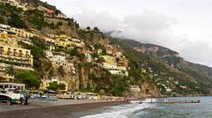 Amalfi Coast Positano Italy 4K Stock Video Footage Stock Footage