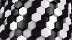 Stock Video Footage of Abstract Background of White and Black Honeycombs