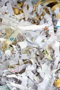 Japanese shredder scrap - stock photo