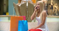 Glad about Her Shopping - stock footage
