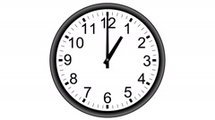 Wall clock time lapse isolated Stock Footage
