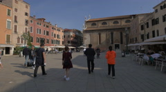 Stock Video Footage of Walking and visiting Campo Santo Stefano, Venice