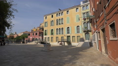 Campiello San Vidal seen on a sunny day in Venice Stock Footage