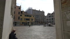 Stock Video Footage of People walking in Campo San Maurizio, Venice