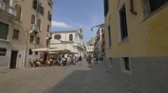 Santa Maria del Giglio Church in Venice Stock Footage