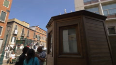 Walking on a bridge in front of Chiesa di San Moise, Venice Stock Footage