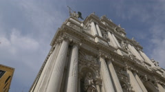 Low angle view of Santa Maria del Giglio Church in Venice Stock Footage