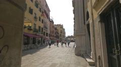 Campo Santa Maria del Giglio seen on a sunny day in Venice Stock Footage