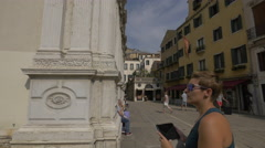 View of Santa Maria del Giglio church in Venice Stock Footage