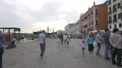Walking on Riva degli Schiavoni in the afternoon, Venice Stock Footage