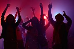 Dancing in club - stock photo