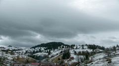 HyperLapse Mountain Clouds Stock Footage