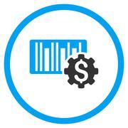 Barcode Price Setup Icon Stock Illustration