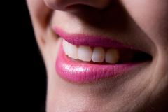 Laughing woman smile with great teeth. Stock Photos
