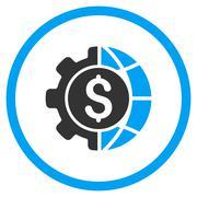 World Industry Finances Icon - stock illustration