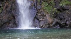 "Waterfall names ""Namtok Chokkadin"" , Thailand, camera locked shot Stock Footage"
