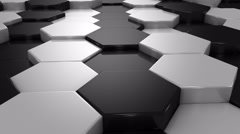 Abstract Background of White and Black Honeycombs - stock footage