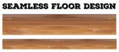 Seamless wooden floor design Stock Illustration