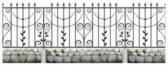 Seamless metale fence design Piirros