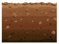 Different layers of soil Stock Illustration