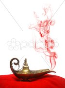 Smoking Genie Lamp Stock Photos