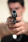 Armed 9 - stock photo