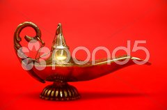 Magic Genie Lamp - stock photo