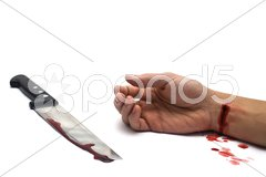 Bloody Knife,  interier scene Stock Photos
