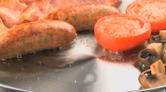 BREAKFAST COOKING Stock Footage