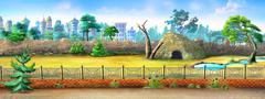 city Zoo - stock illustration