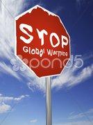 STOP global warming! - stock photo