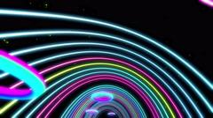 Colorful Trip Tunnel 4K Vj Loop 02 Stock Footage