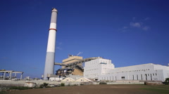 Power plant, Tel-Aviv, Israel Stock Footage