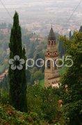 Church in Bergamo - stock photo