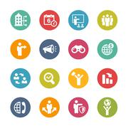Business Opportunities Icons -- Fresh Colors Series - stock illustration