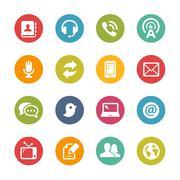 Telecommunications Icons -- Fresh Colors Series - stock illustration