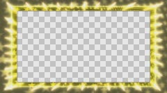Yellow frame with a rotating star Alpha Channel Stock Footage
