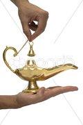 Gold Magic Lamp Stock Photos