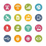 Web and Mobile Icons 6 -- Fresh Colors Series Stock Illustration