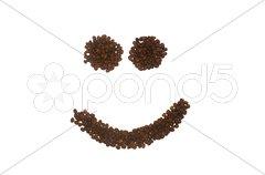 Coffee Smilie Face Stock Photos