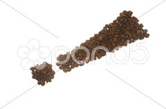 Coffee Exclamation Mark Stock Photos