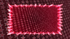 Red frame with rotating stars - stock footage