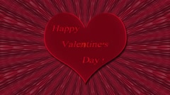 Heart with an inscription Happy Valentine - stock footage
