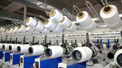 Yarn Spinning Machines Stock Photos