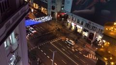 Timelapse Gran Via Avenue Madrid, Spain Stock Footage